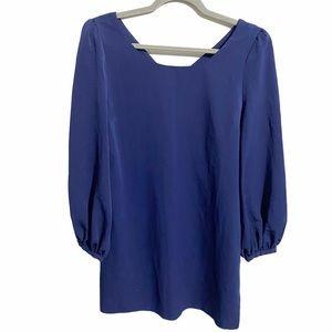 ASOS Blue Balloon Sleeve Dress
